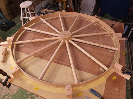 A wheel in progress
