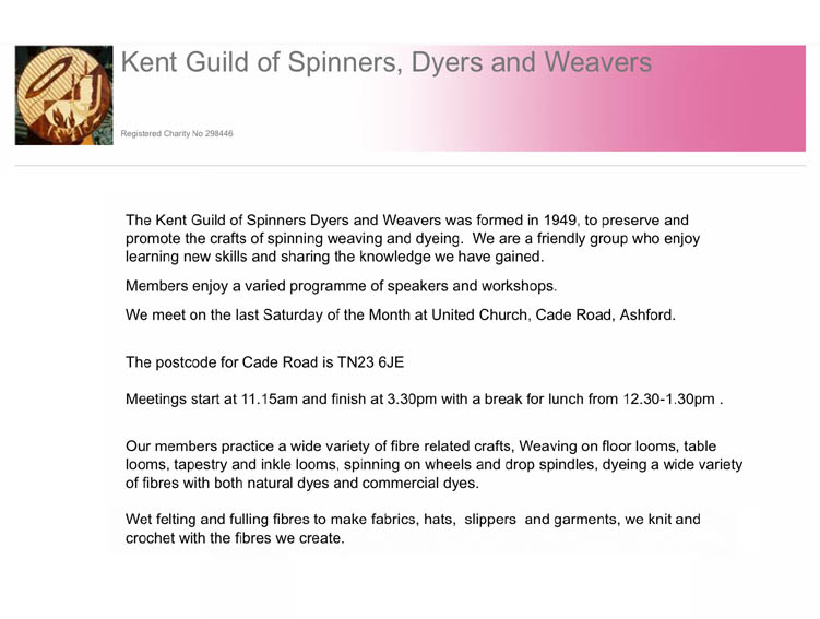Kent Guild of Spinners, Dyers and Weavers