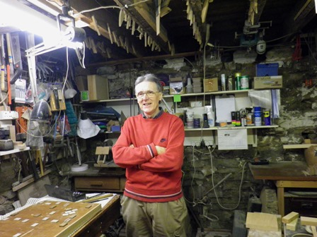 Michael Williams in his workshop