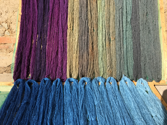 Dye sample skeins