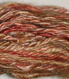 Hand dyed Tussah silk